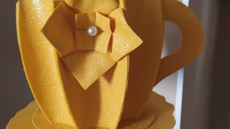 Tazzone in gomma crepla con colori estivi