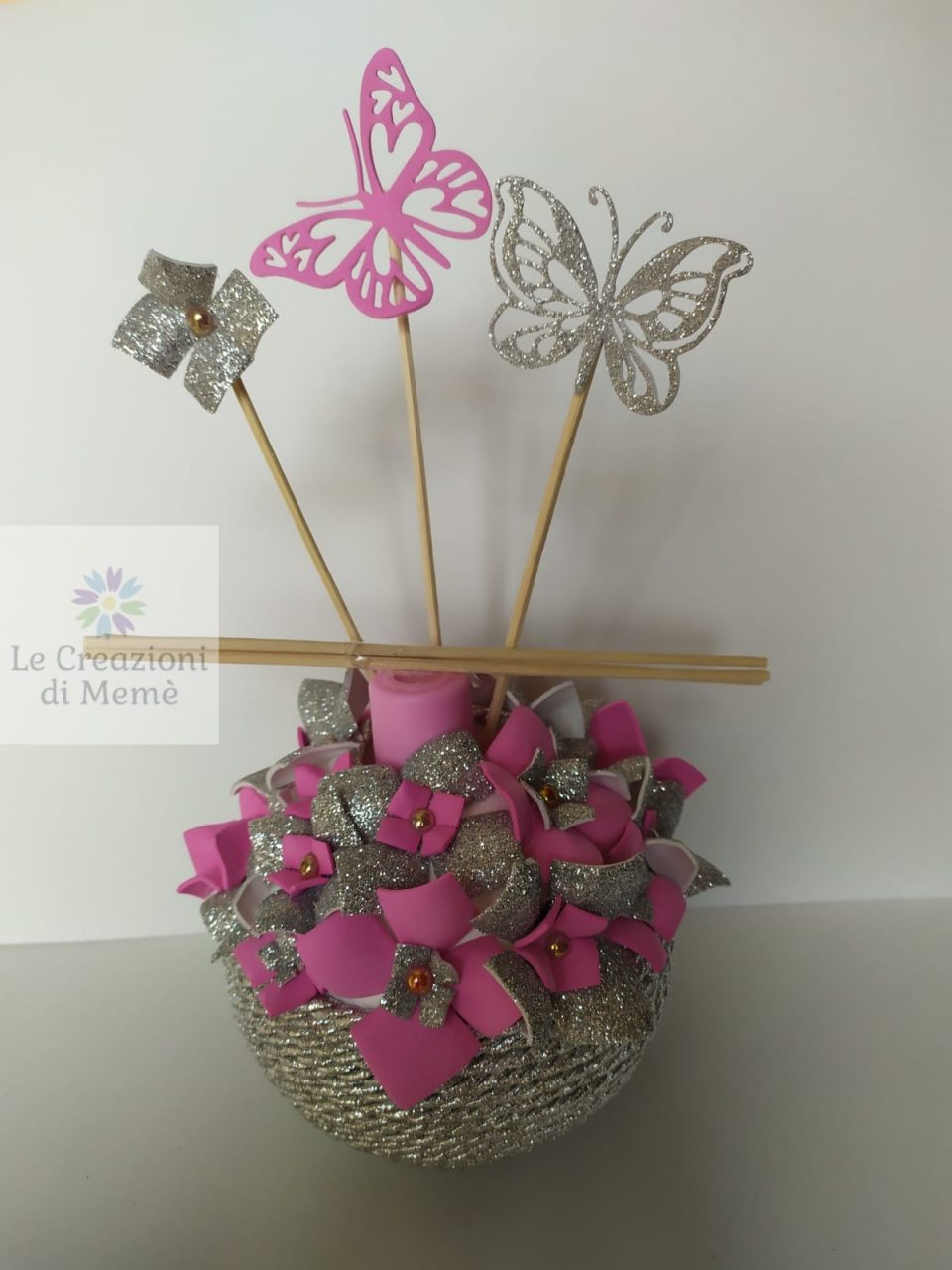 Porta profumatore con tema floreale