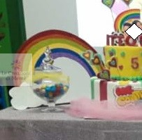 Arcobaleno in gomma crepla