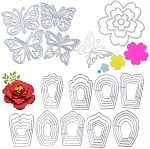 JNCH 17 pezzi fustelle fiori e farfalla