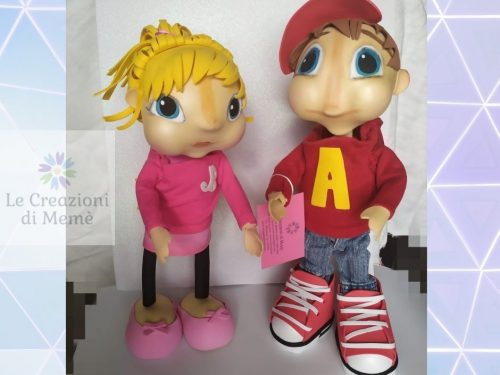 "Alvin e Brittany dei ""The Chipmunks"""