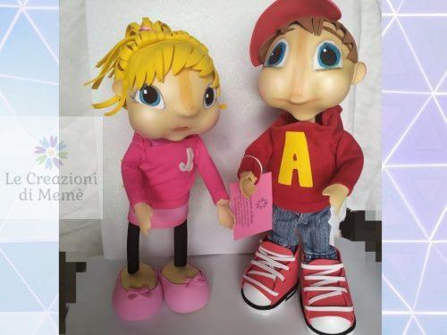 """Alvin e Brittany dei """"The Chipmunks"""""""