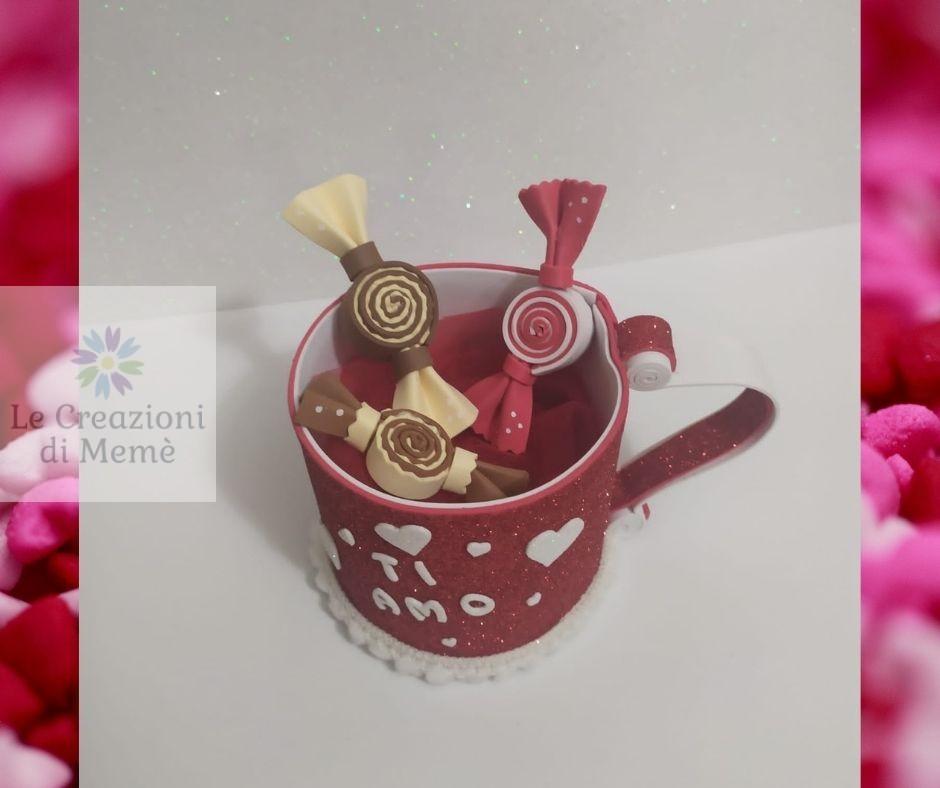 Tazza porta cioccolatini in gomma crepla